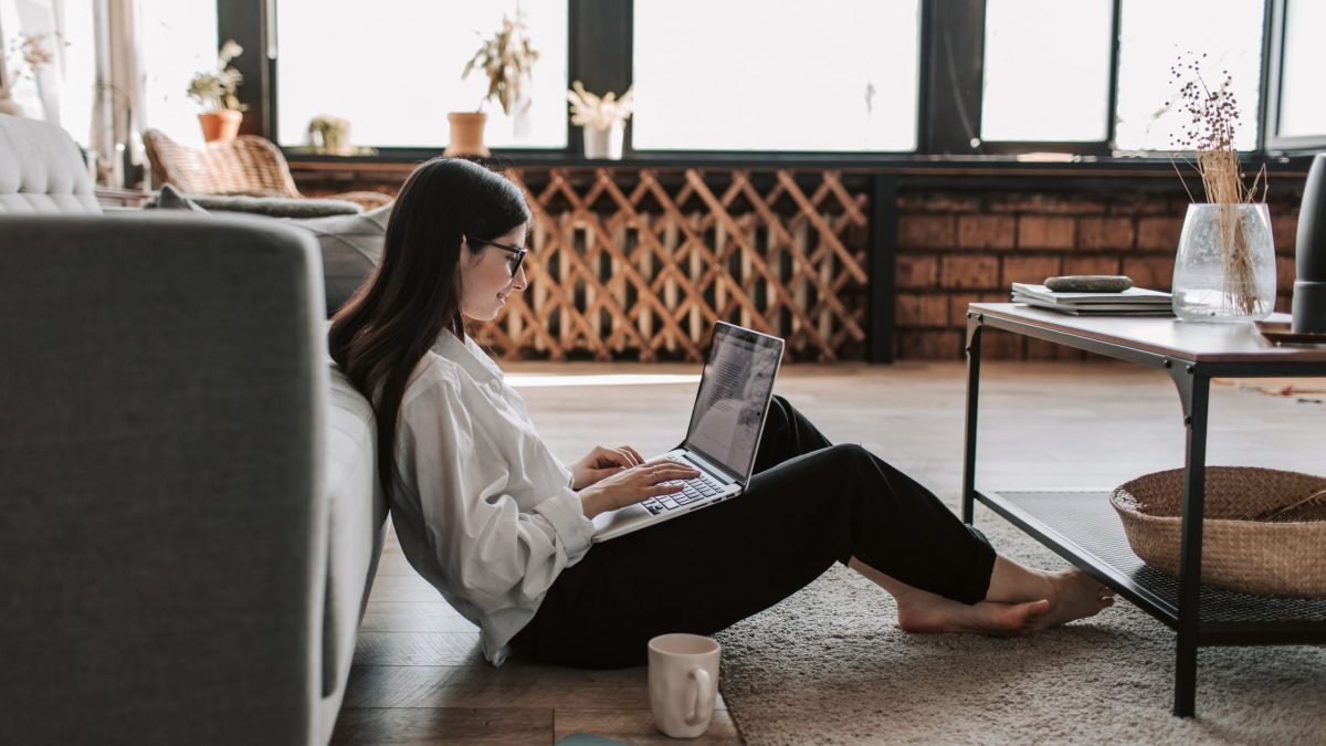 Woman Inside on Computer