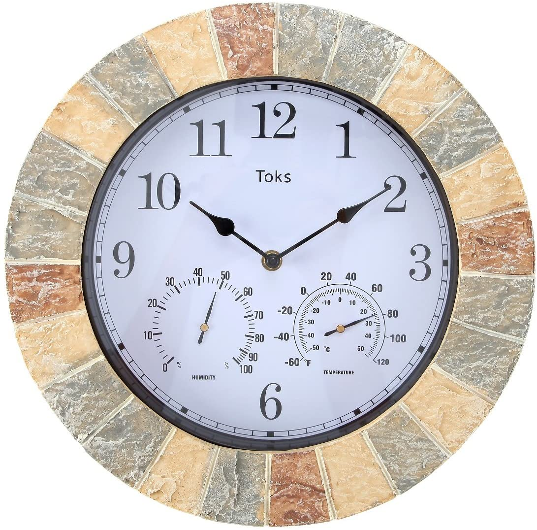 Lily's Home Hanging Wall Clock/thermometer Indoor/Outdoor
