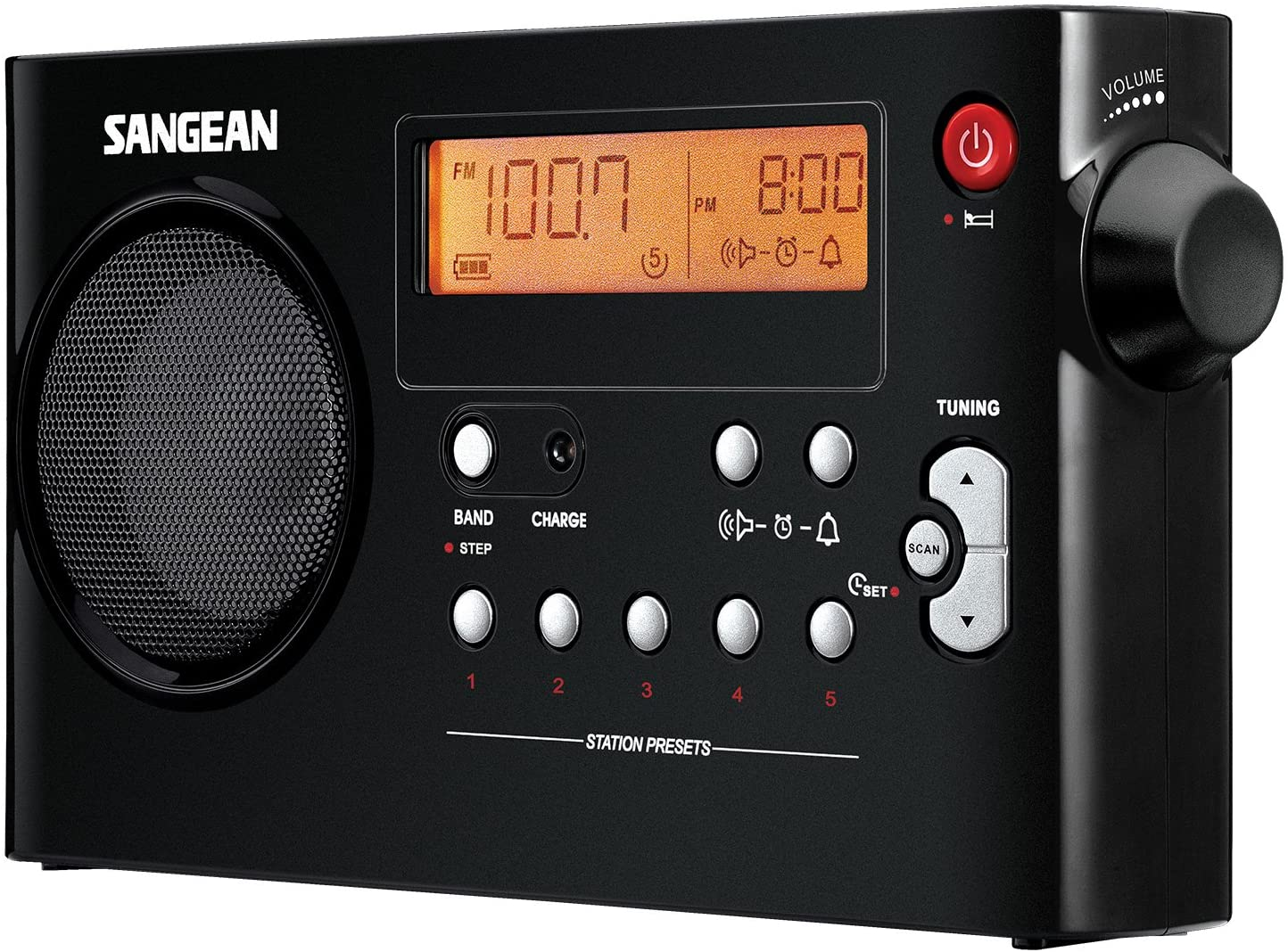 Sangean AM/FM Digital Rechargeable Portable Radio
